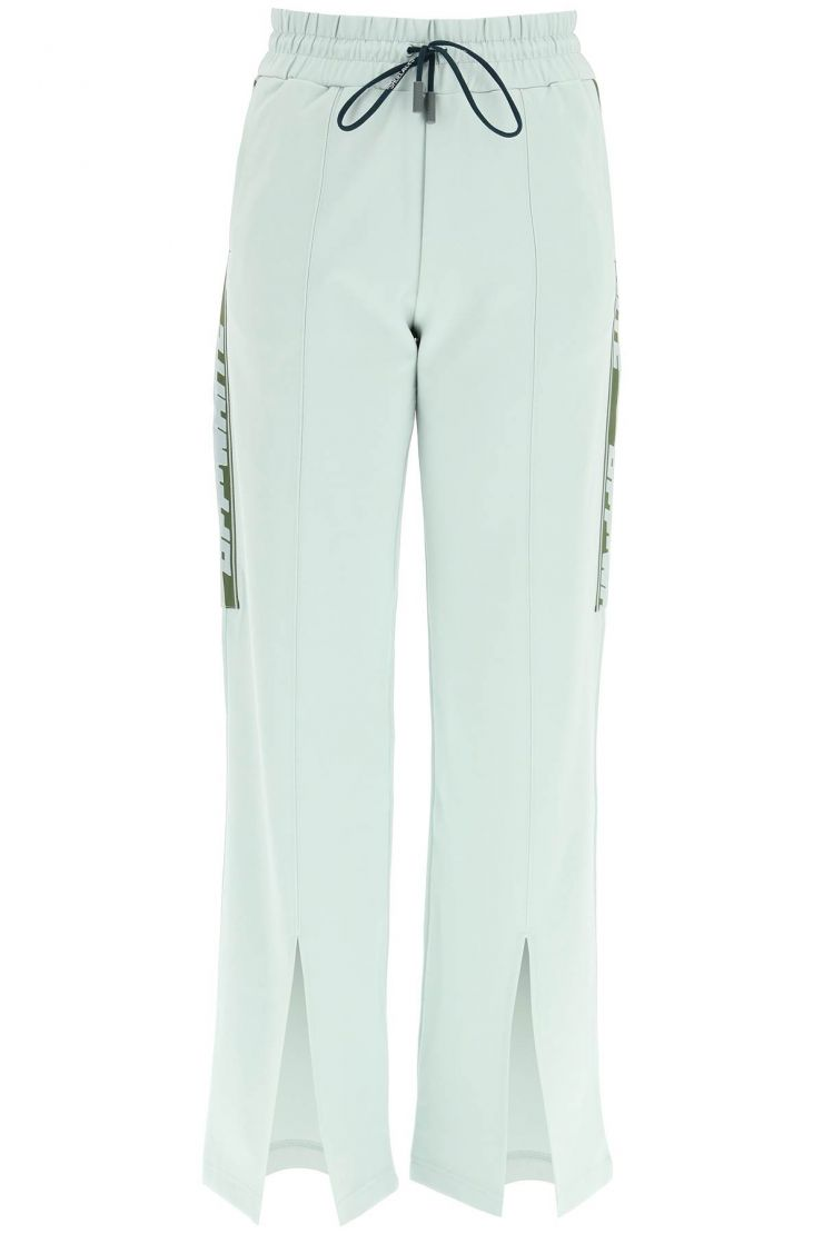 off-white trousers sports trousers with slit