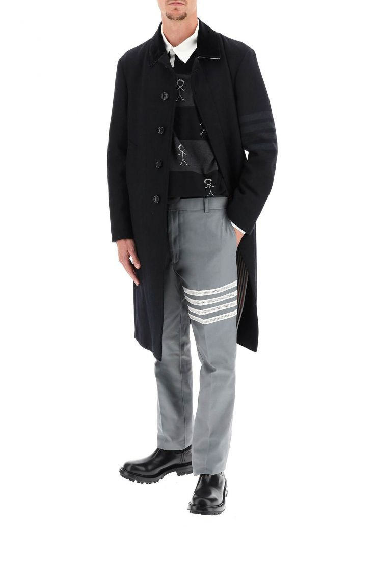 thom browne trousers unconstructed classic chino trousers 4-bar