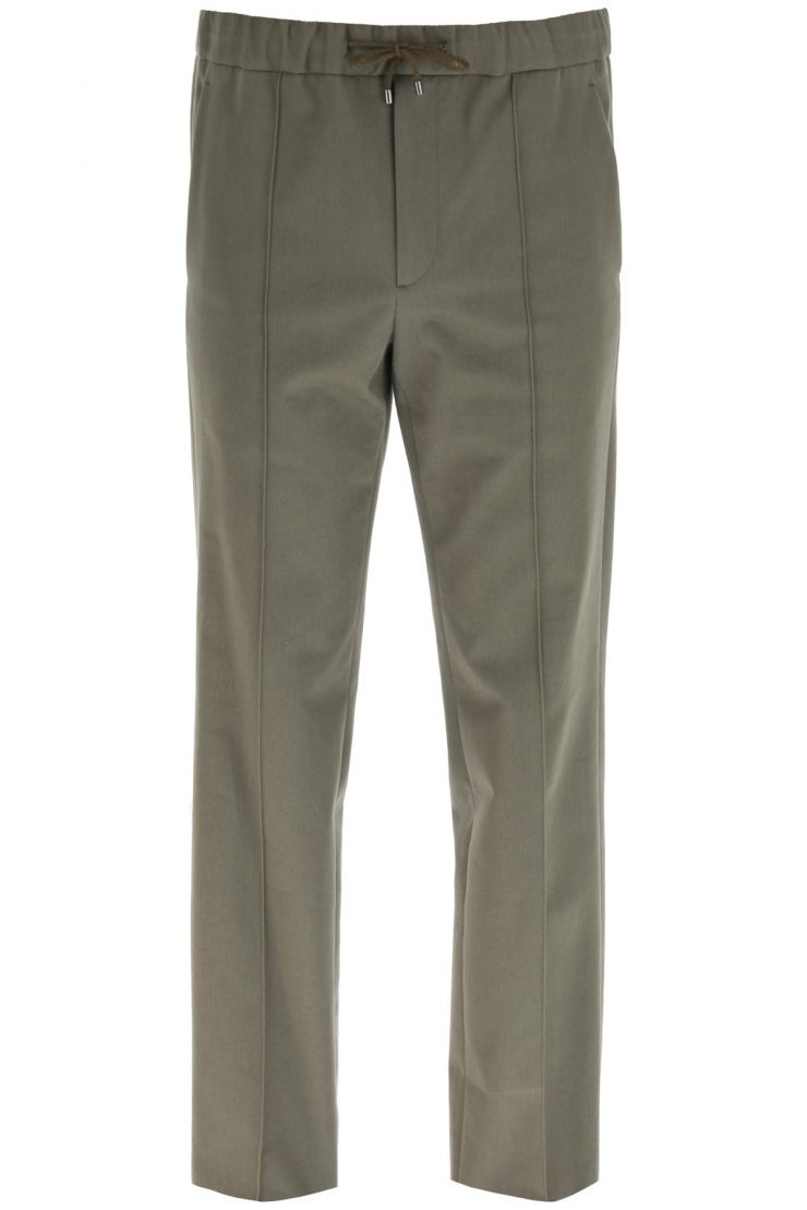 valentino relaxed elegance cotton jogging trousers