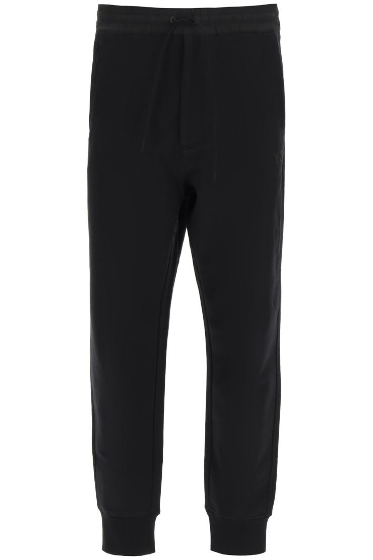 y-3 the essential jogging trousers with logo embroidery