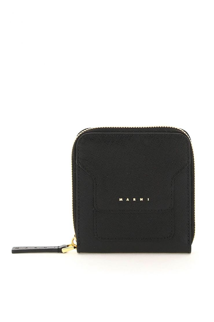 marni wallets squared zip-around leather wallet