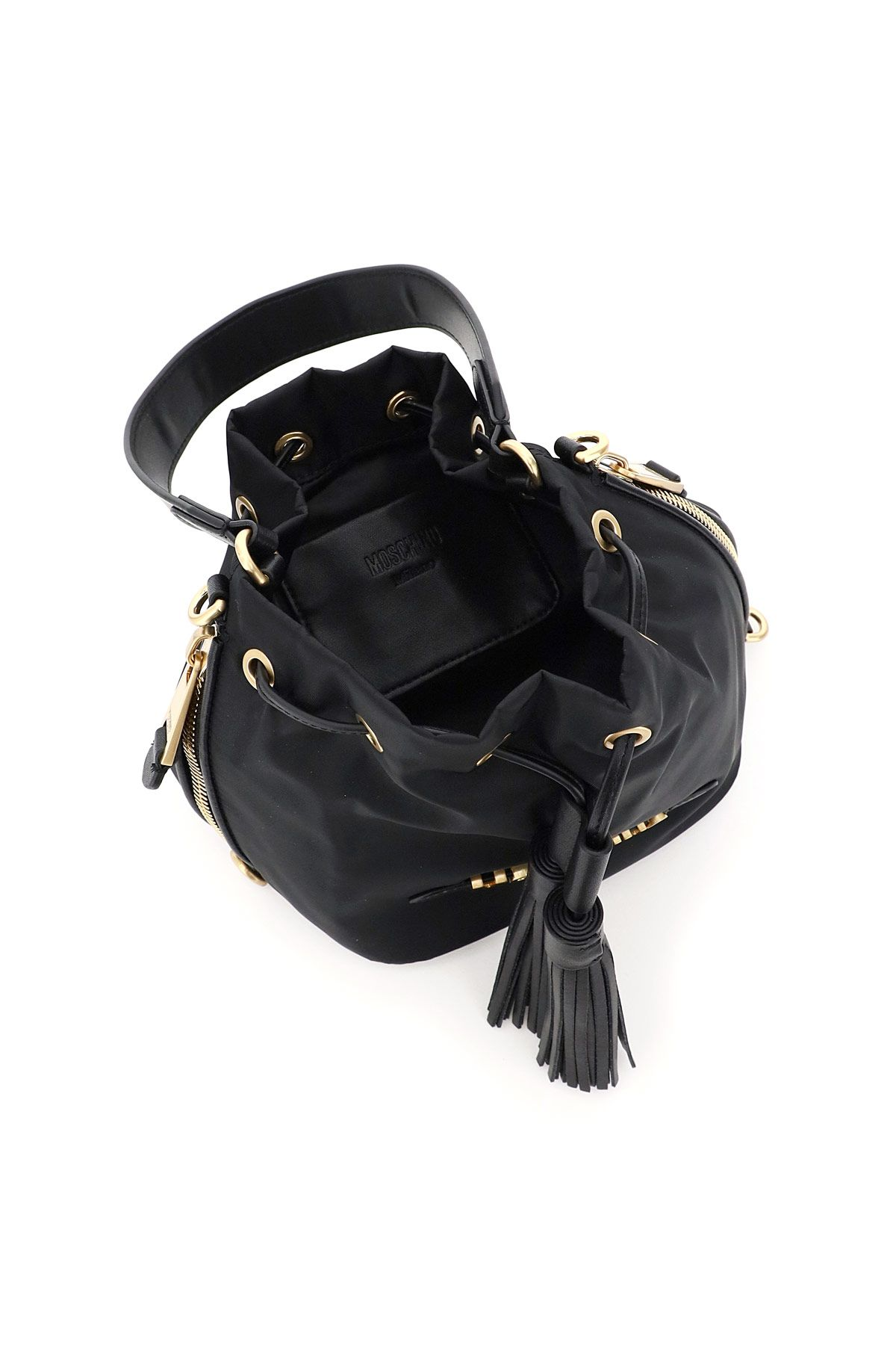 moschino bags women small bucket bag moschino lettering