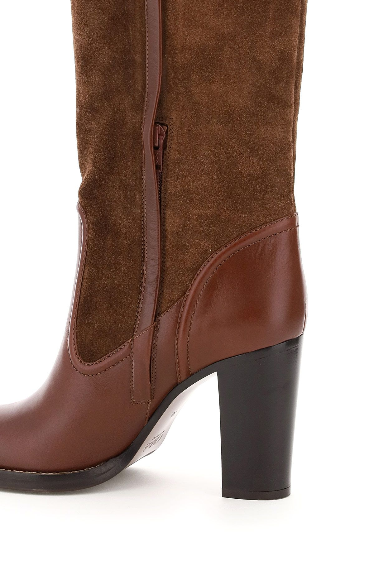 chloe' shoes women emma leather and suede boots