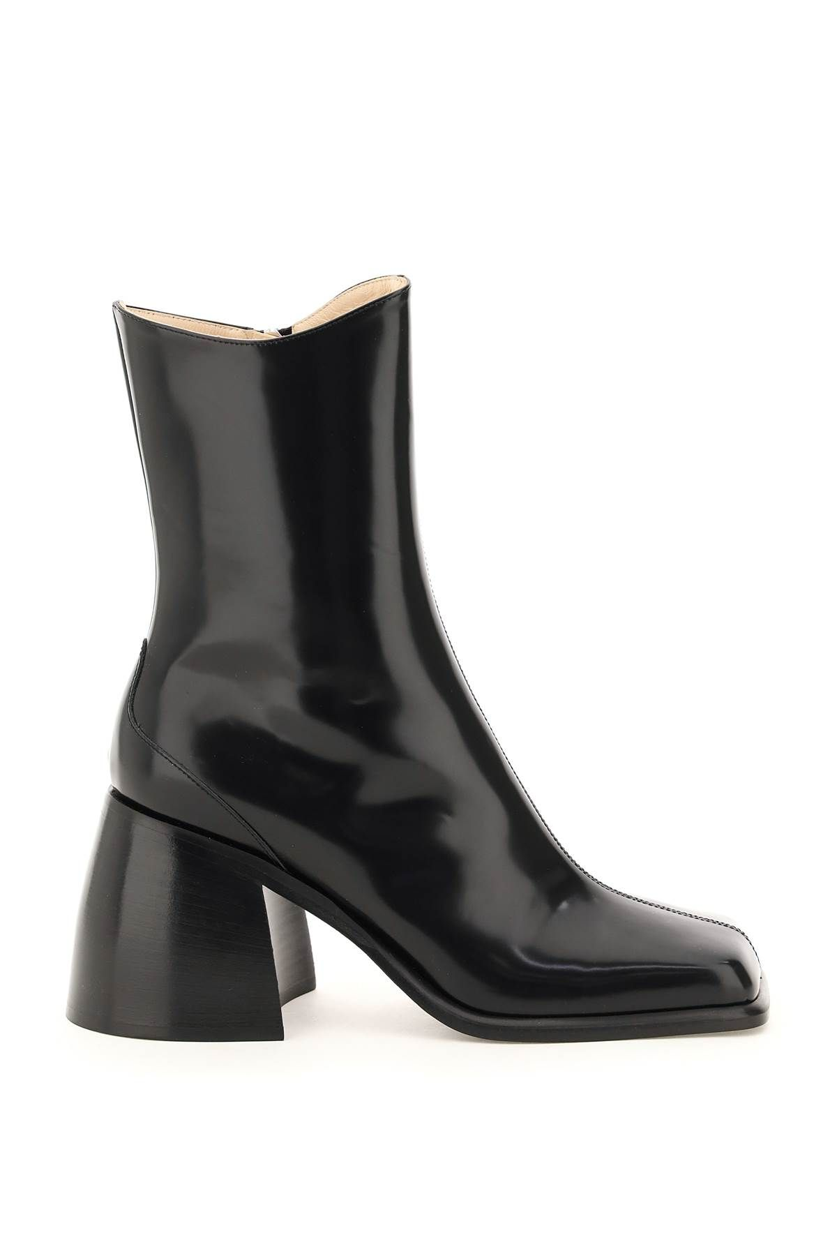 wandler shoes women brushed leather ella ankle boots