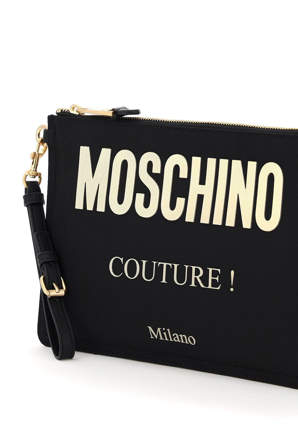 moschino bags women moschino couture canvas pouch