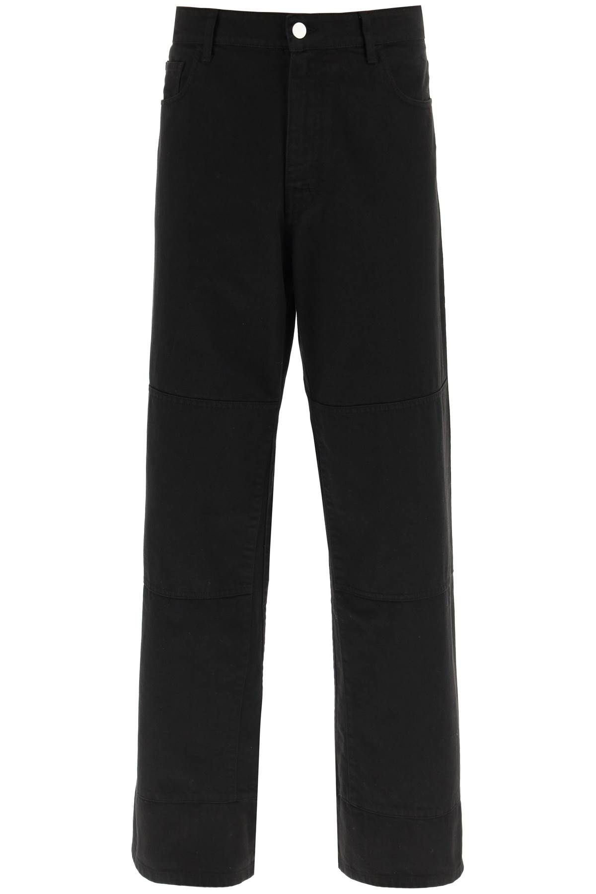 raf simons clothing men workwear jeans with knee patches