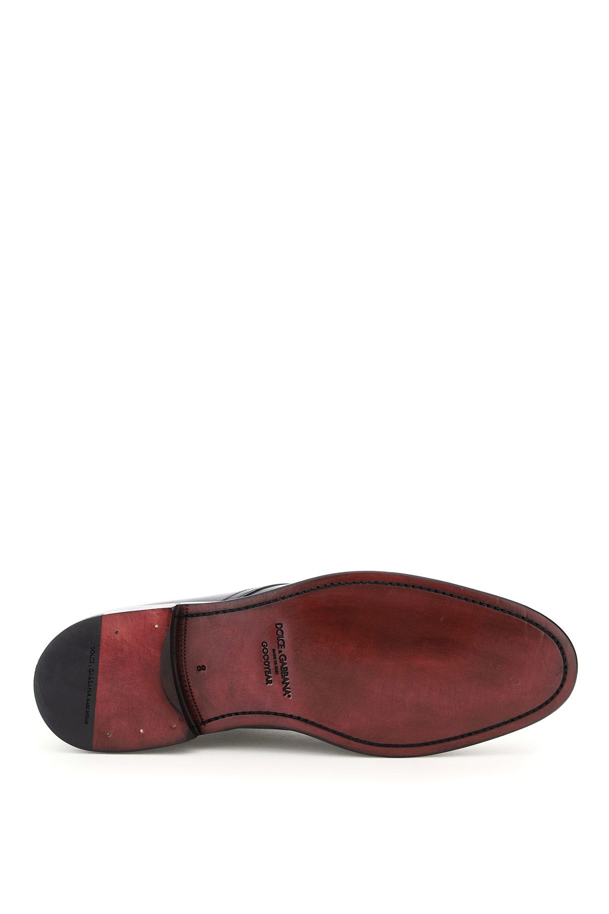 dolce & gabbana shoes men giotto leather lace-up shoes