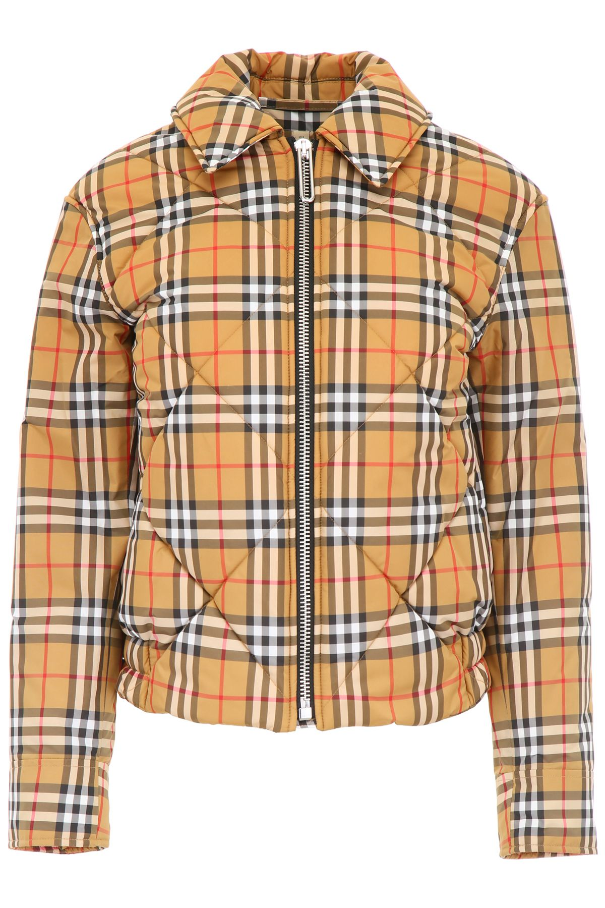 burberry clothing women check puffer jacket