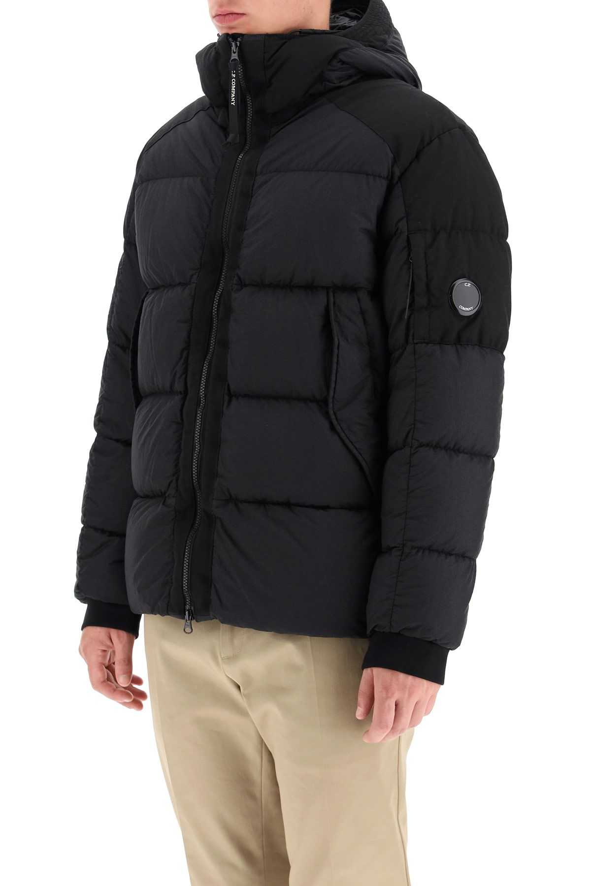 cp company clothing men hooded down jacket