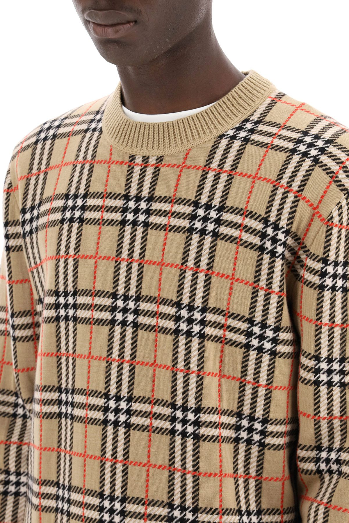 burberry clothing men vintage check sweater