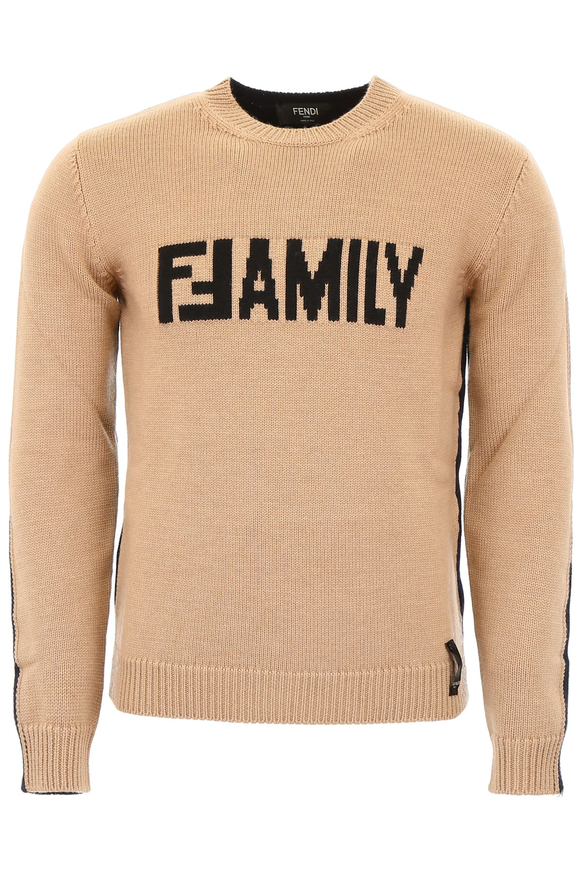 fendi clothing men crew neck pull with lettering