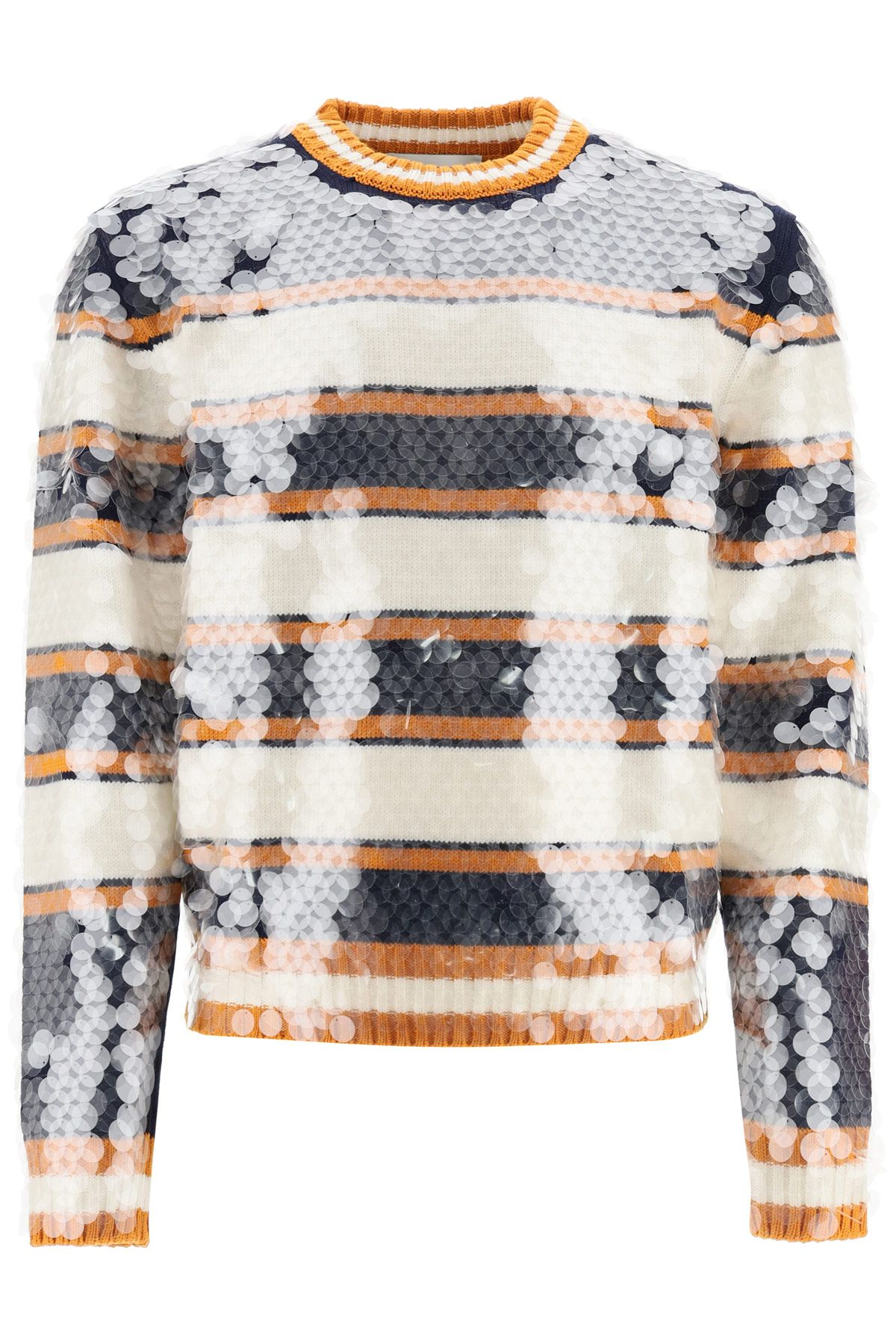 lanvin clothing men striped sweater with sequins