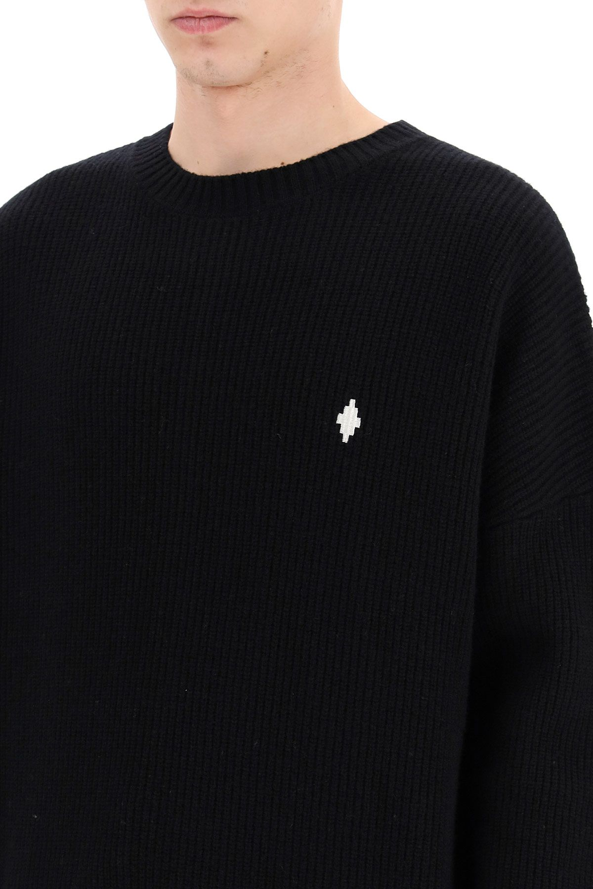 marcelo burlon clothing men sweater with mbcm patch