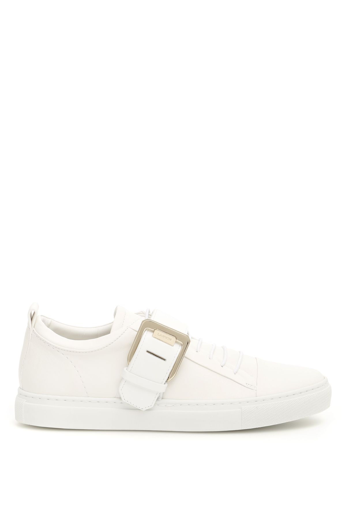 lanvin shoes women square buckle nappa sneakers