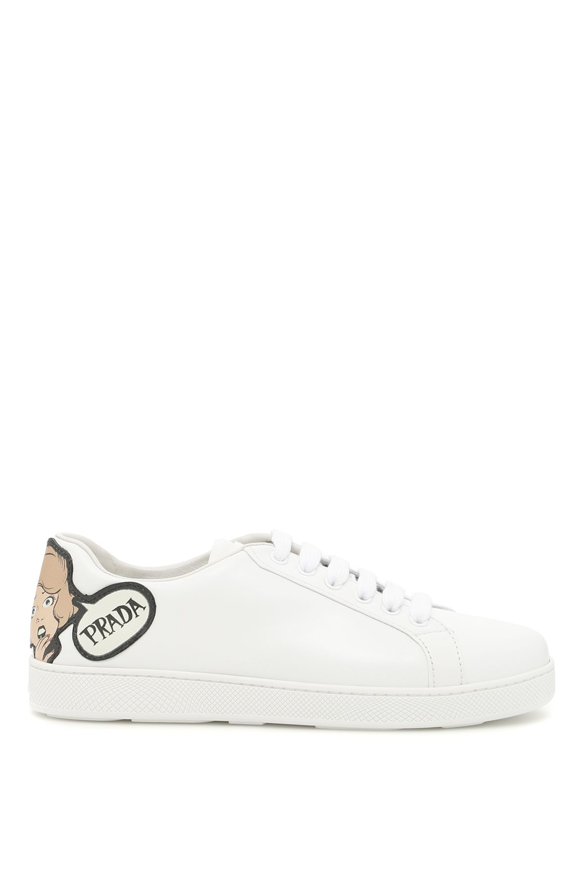 prada shoes women sneakers with logo patch
