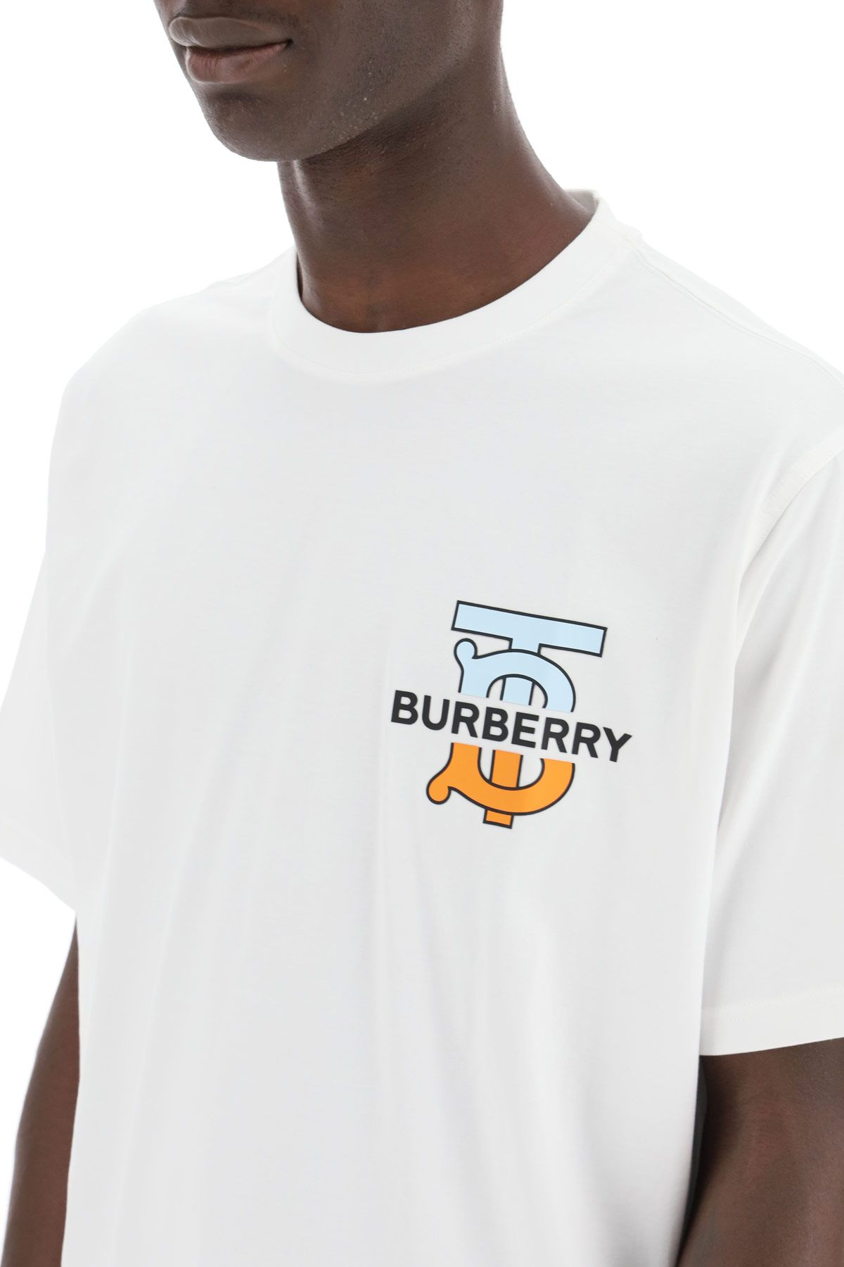 burberry clothing men ganther t-shirt with logo