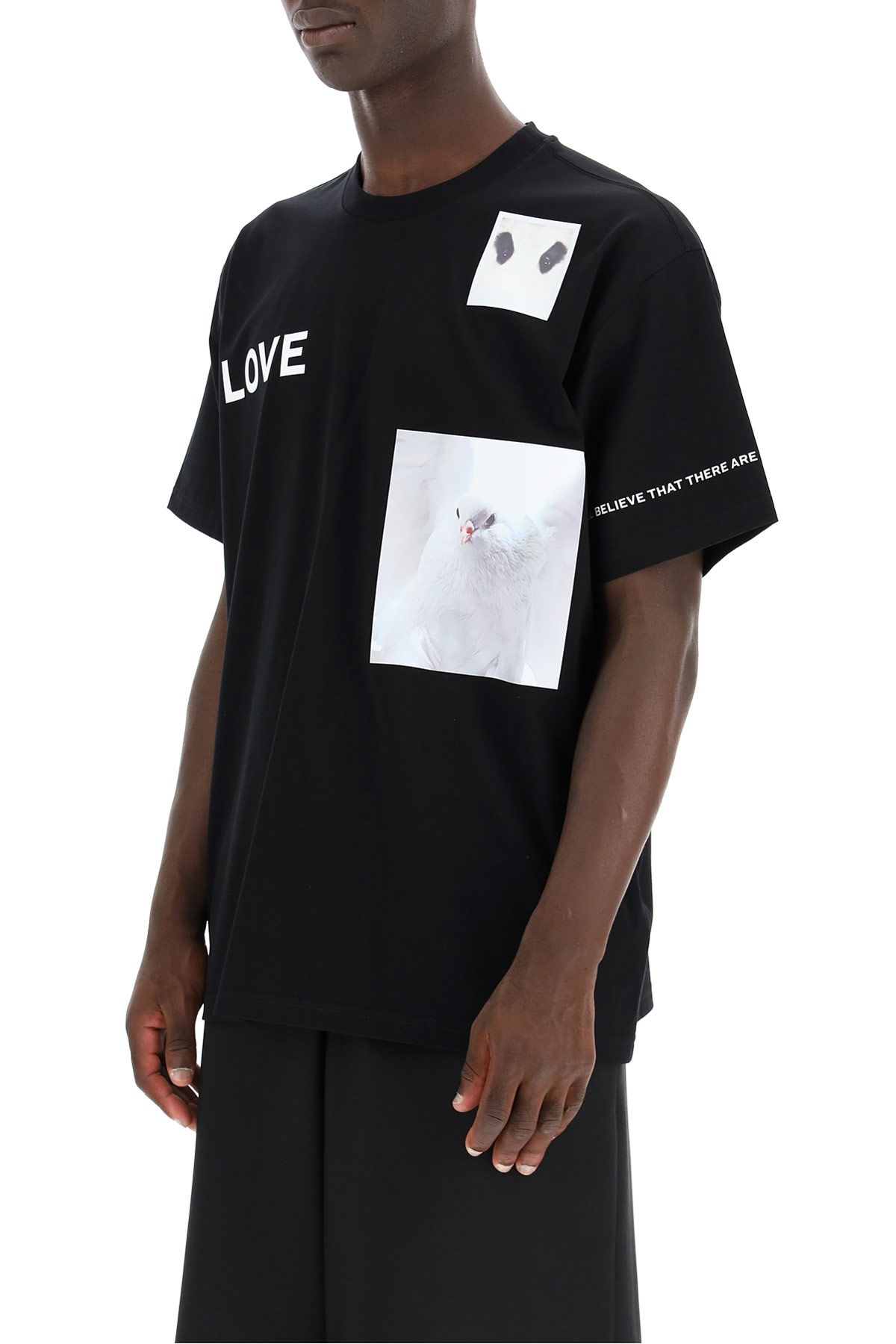 burberry clothing men t-shirt with collage prints
