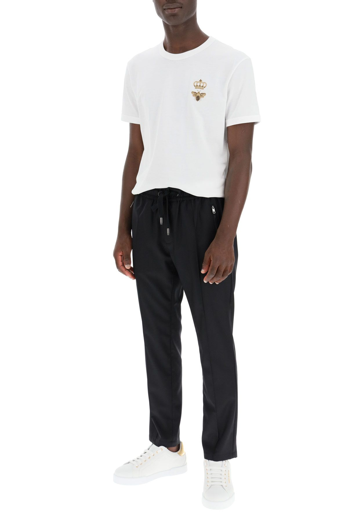 dolce & gabbana clothing men bee and crown t-shirt