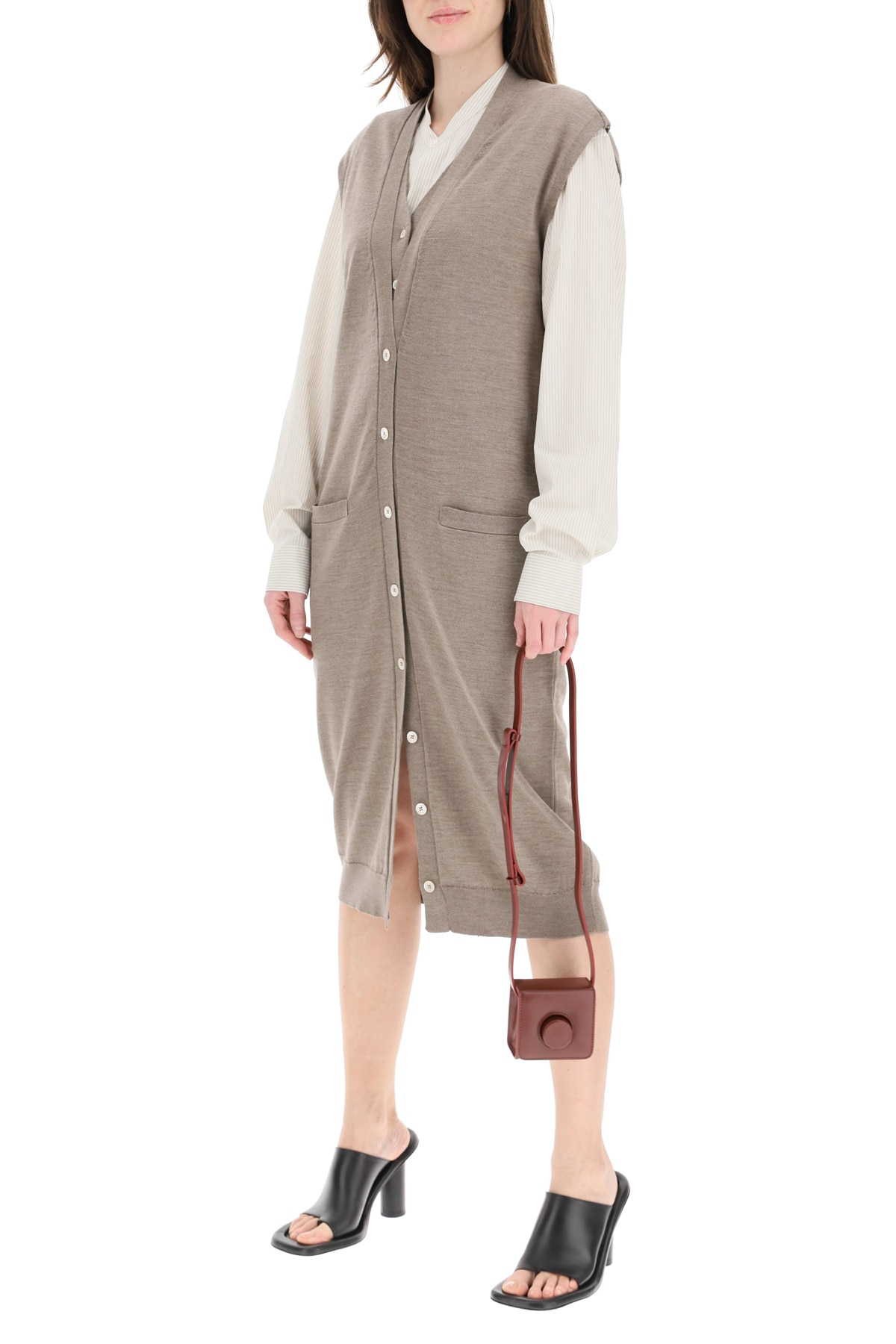 LEMAIRE Clothing LAYERED DRESS IN MERINO WOOL BLEND