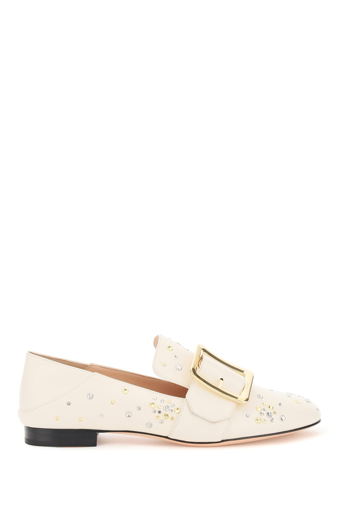 BALLY JANELLE LOAFERS 37 Beige, White Leather