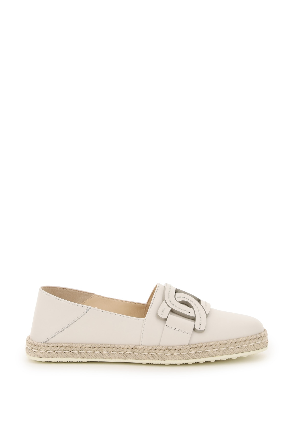 Tod's LEATHER ESPADRILLES CHAIN