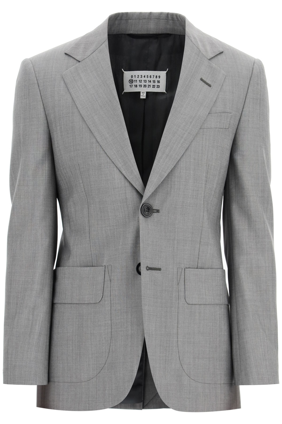 MAISON MARGIELA CLASSIC MOHAIR WOOL JACKET 48 Grey Wool