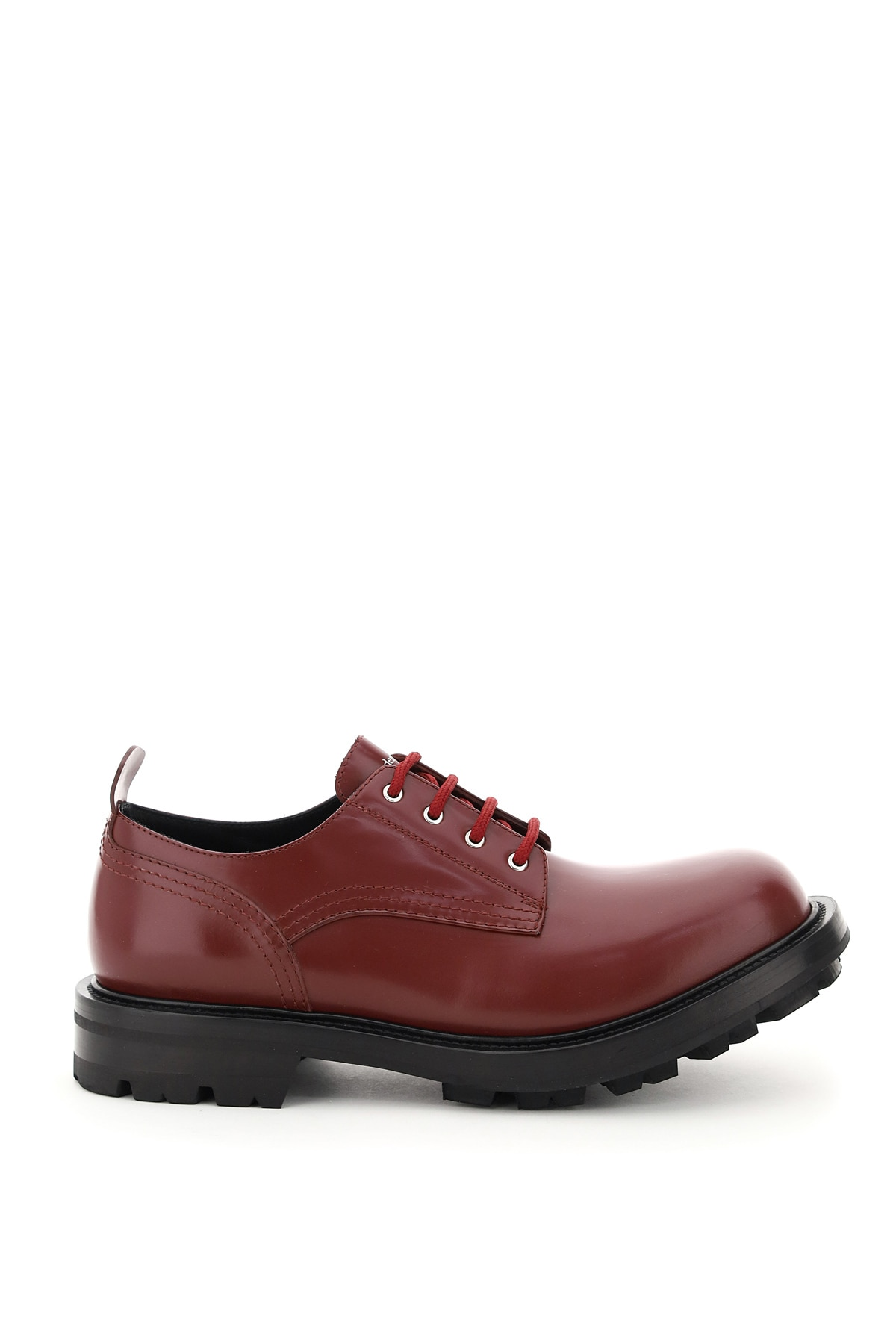 ALEXANDER MCQUEEN 0 42 Red, Black Leather