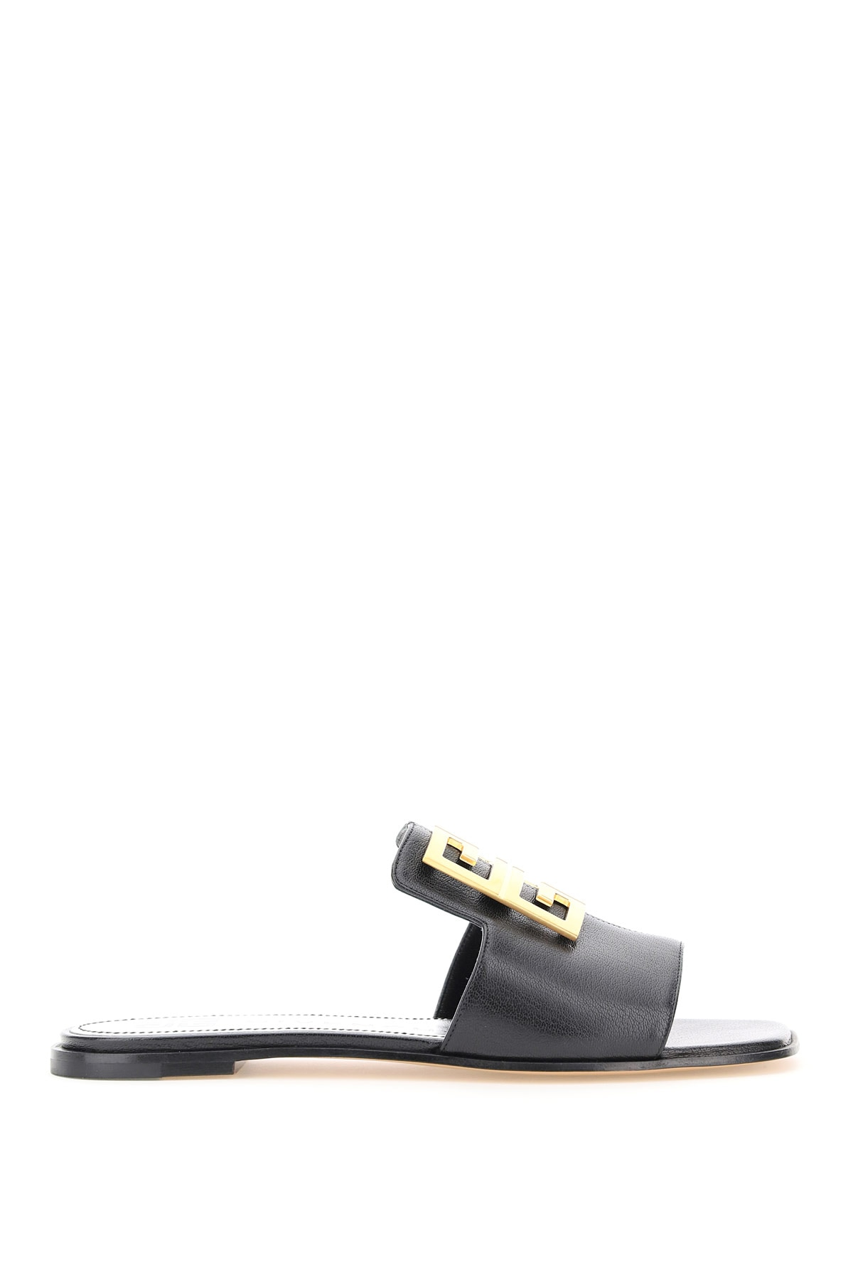 GIVENCHY LEATHER MULES WITH 4G LOGO 37 Black Leather