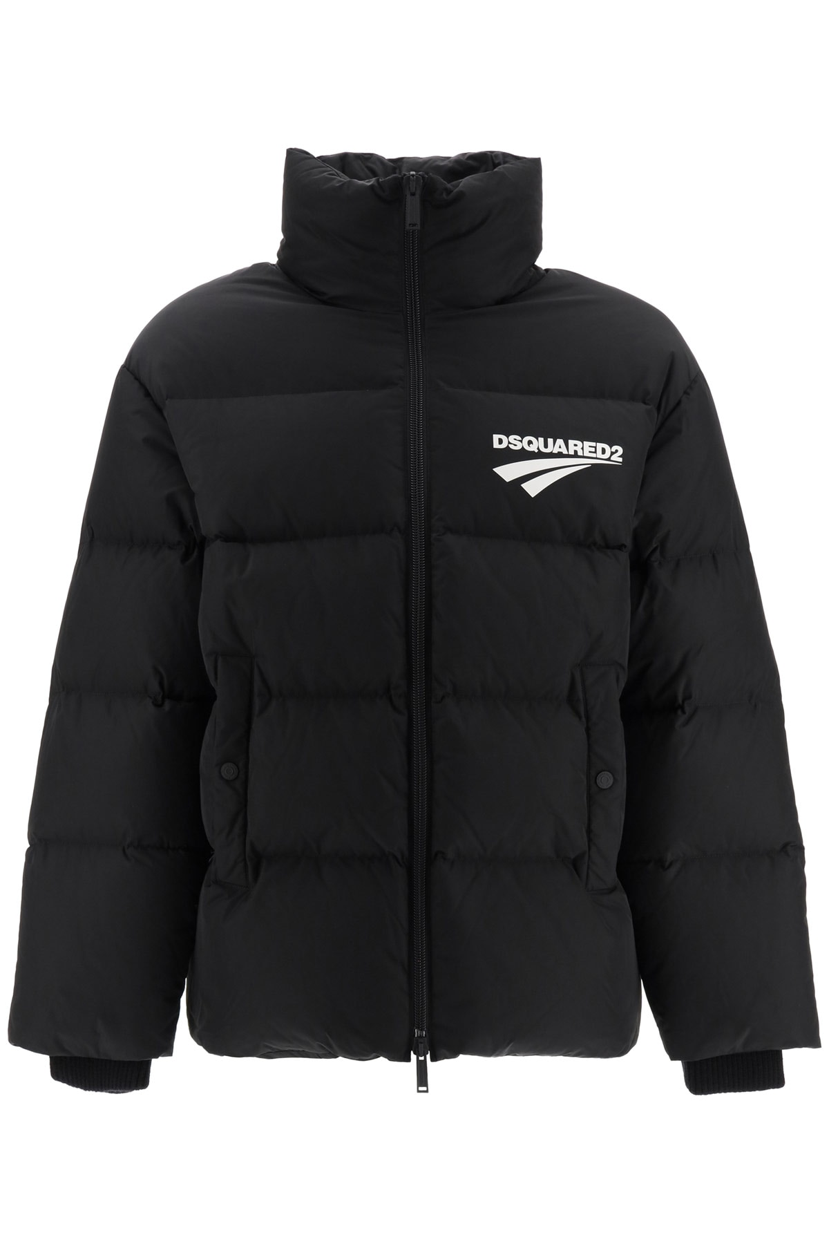 DSQUARED2 DOWN JACKET WITH LOGO 46 Black