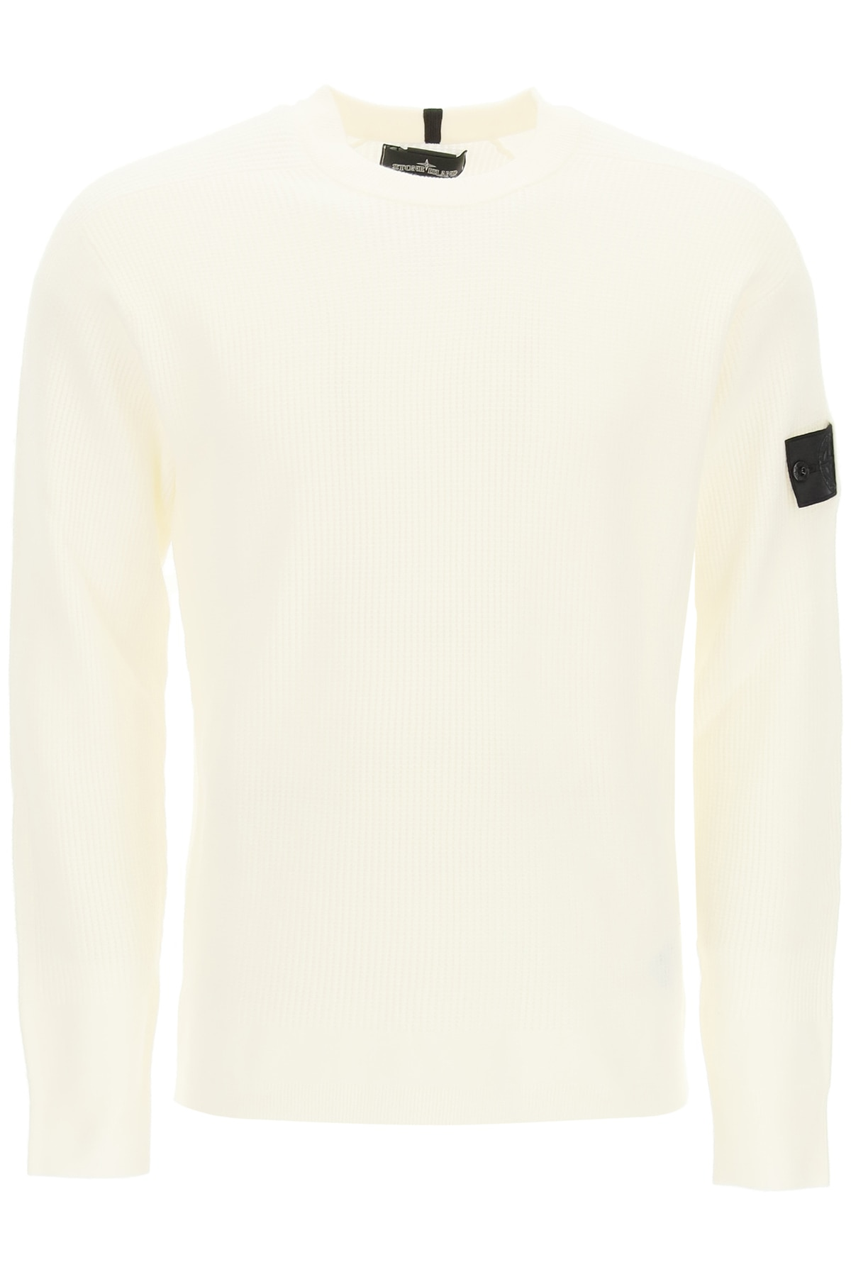 STONE ISLAND SHADOW PROJECT TEXTURED WOOL BLEND CREWNECK SWEATER M White Wool