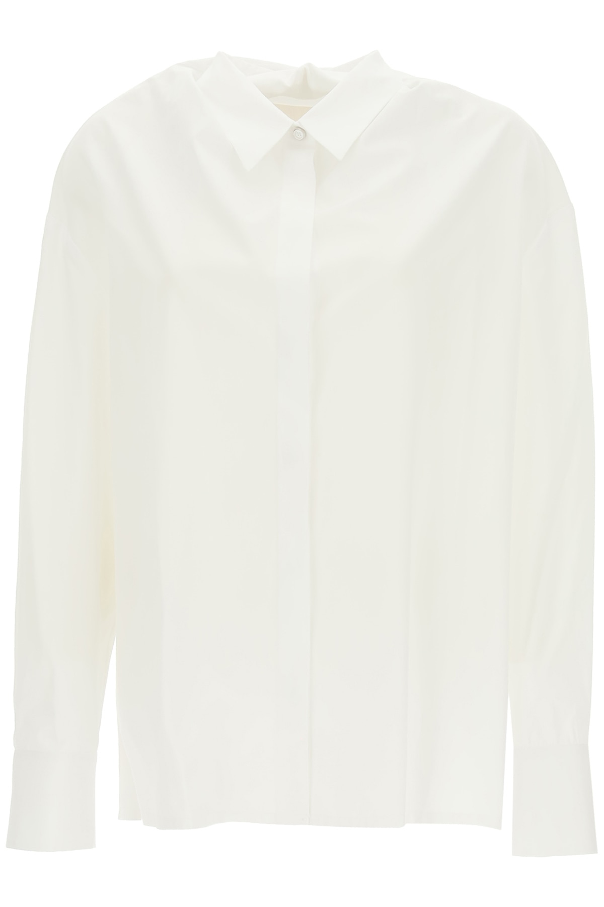 GIVENCHY OVERSIZED SHIRT WITH DRAPING 36 White Cotton