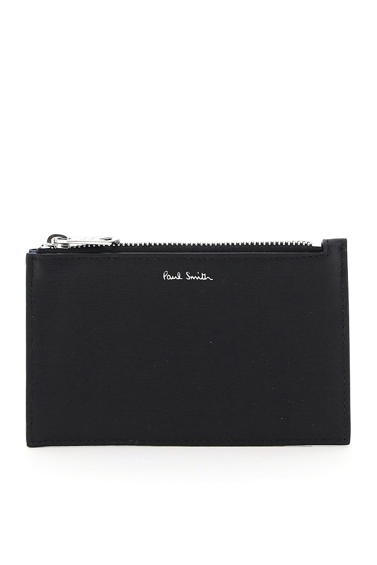PAUL SMITH MULTICOLOUR BRIGHT STRIPE CARD HOLDER POUCH OS Black, Red, Grey Leather