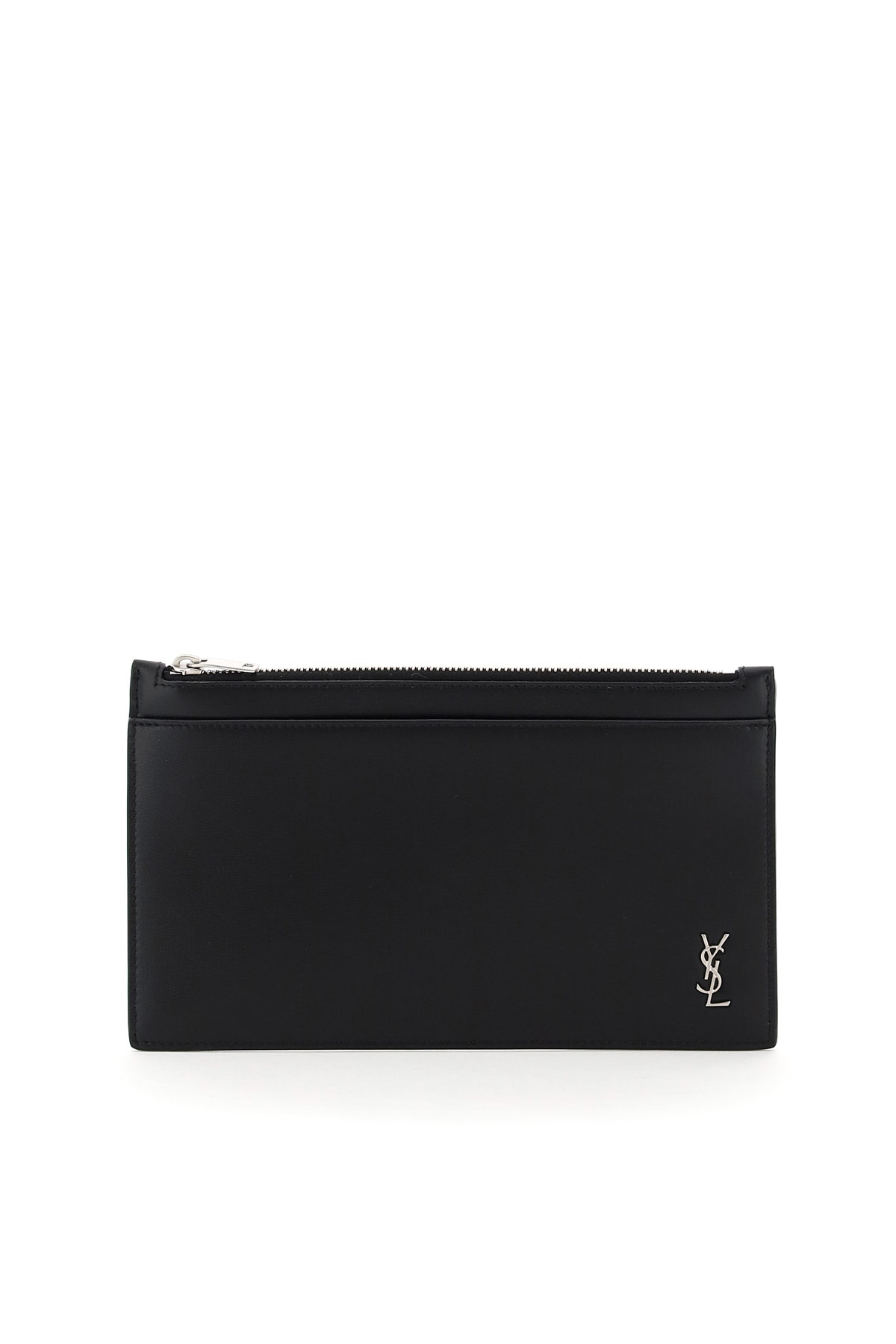 SAINT LAURENT SMALL POUCH YSL OS Black Leather