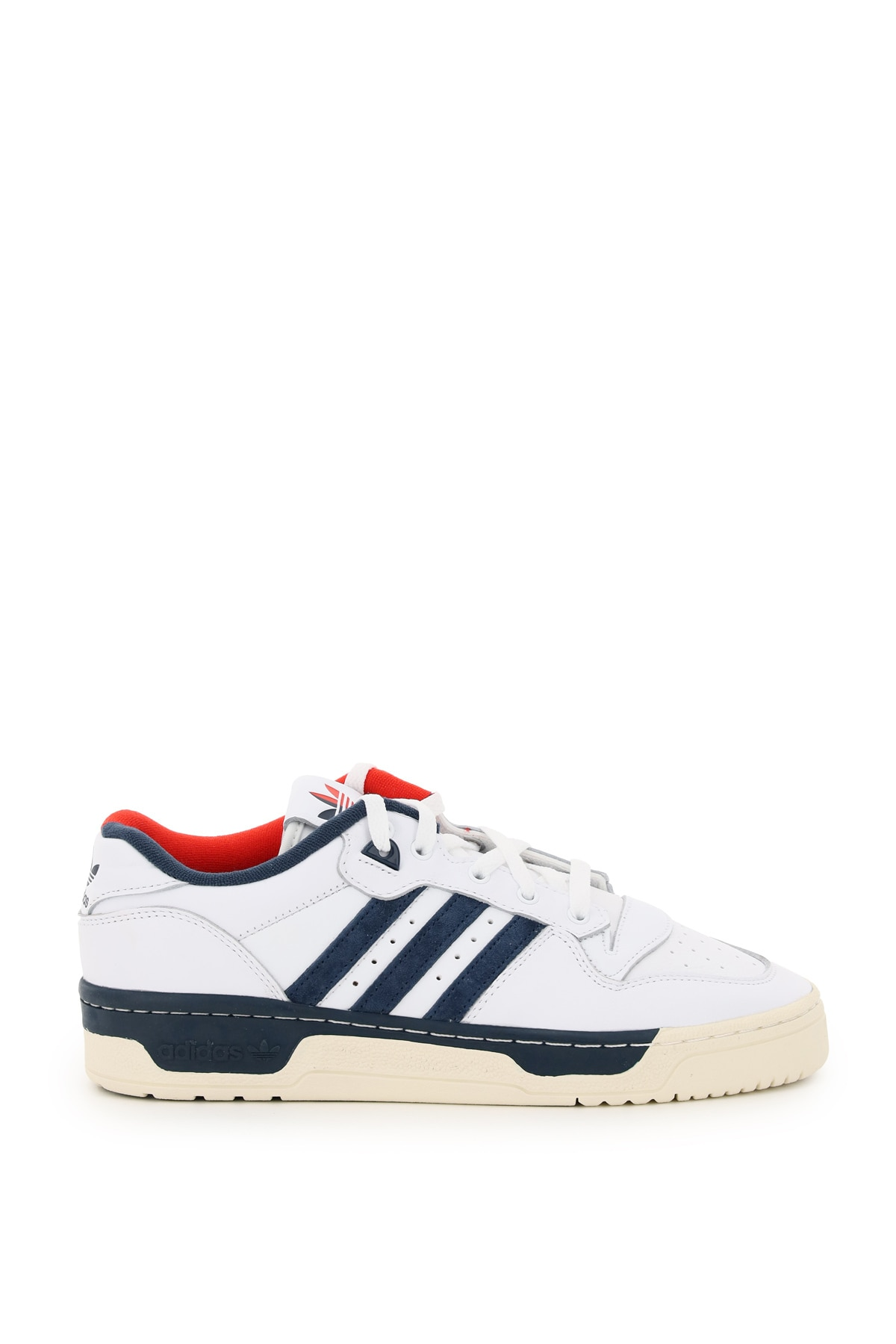 ADIDAS RIVALRY LOW PREMIUM SNEAKERS 9 White, Red Leather