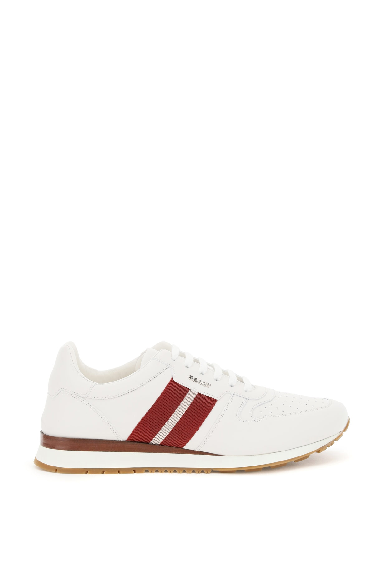BALLY ASTEL SNEAKERS 7 White, Red Leather