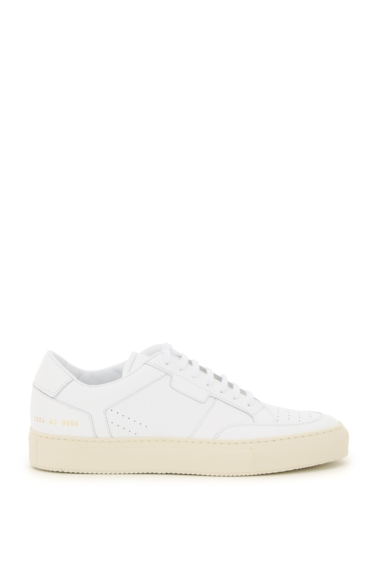 COMMON PROJECTS ZEUS PROTOTYPE LEATHER SNEAKERS 40 White Leather