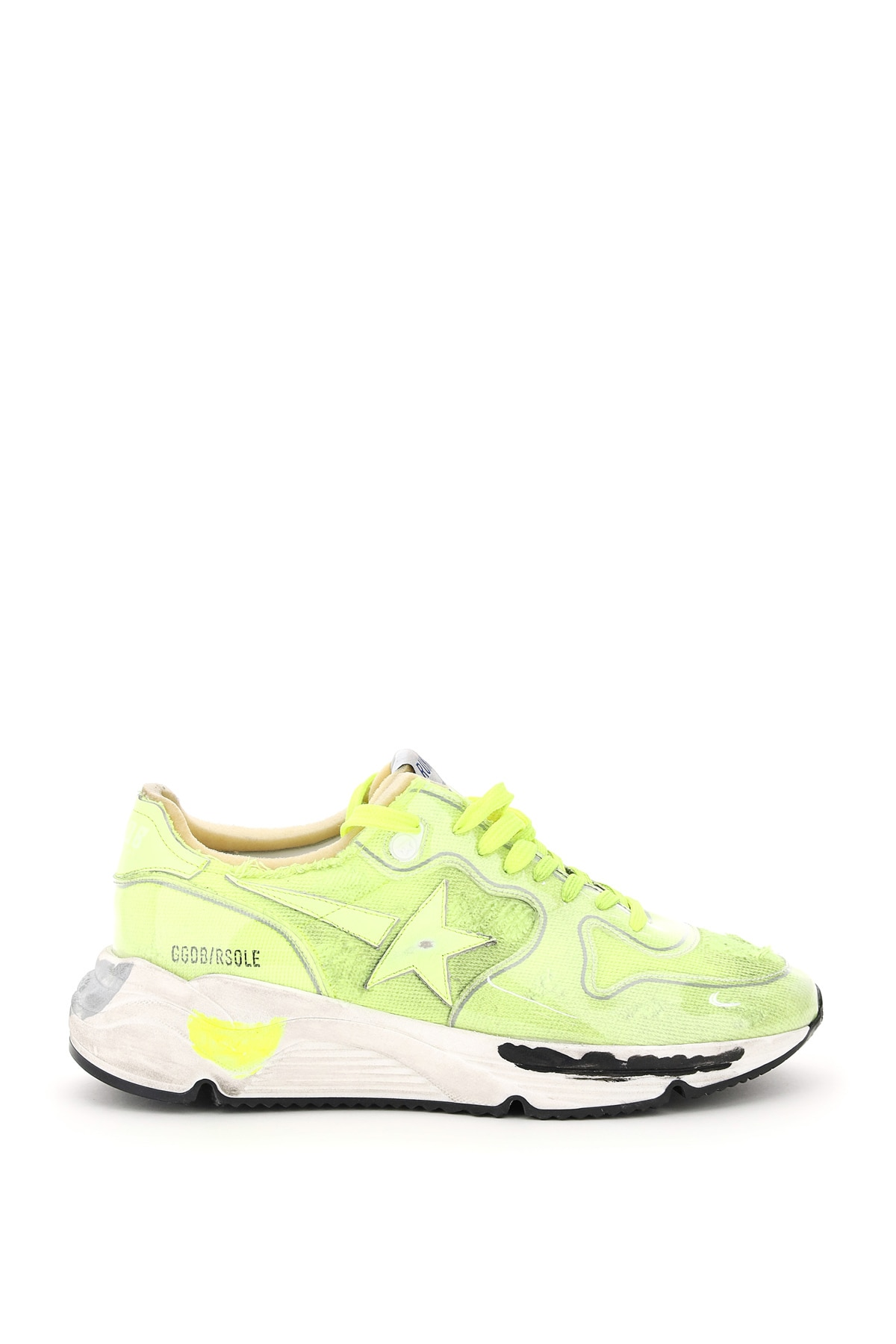 Golden Goose Activewears RUNNING SOLE CANVAS AND PVC SNEAKERS