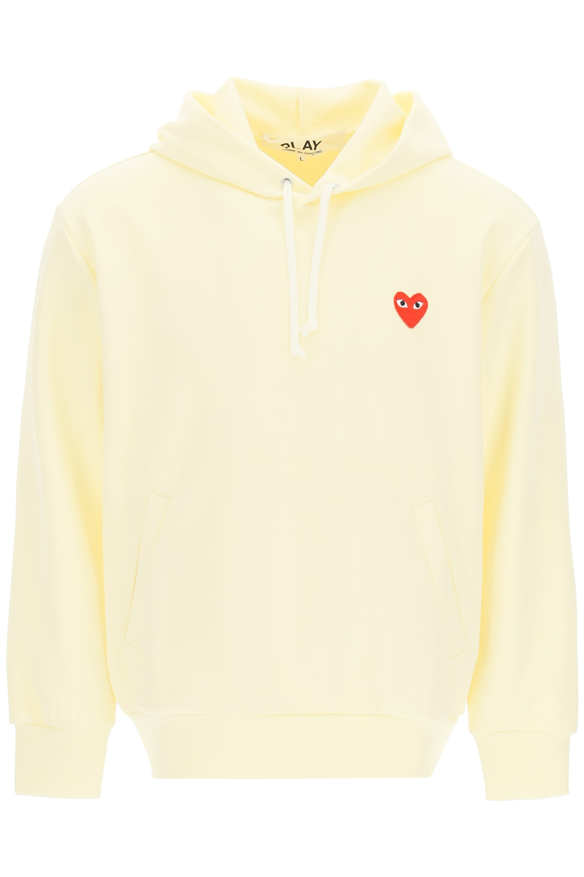 COMME DES GARCONS PLAY HOODED SWEATSHIRT S White, Yellow