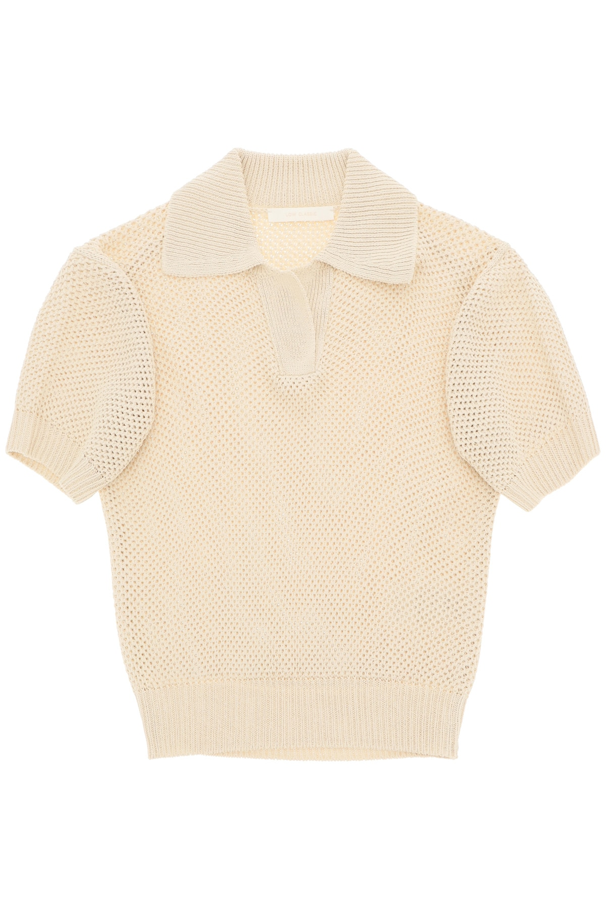 Low Classic Linens PERFORATED POLO SHIRT