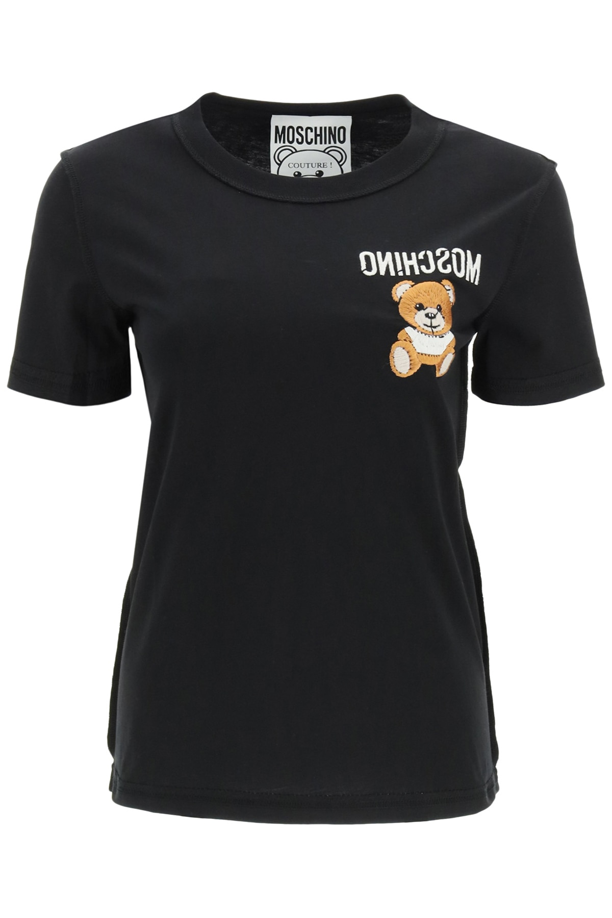 Moschino Cottons TEDDY BEAR EMBROIDERY T-SHIRT