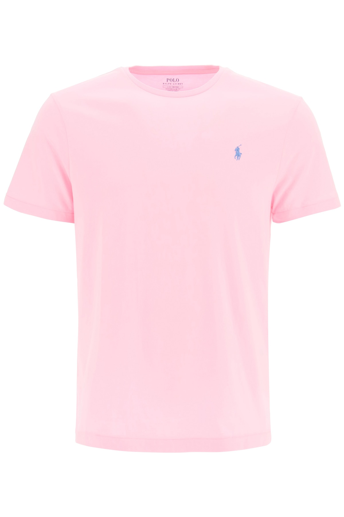 POLO RALPH LAUREN T-SHIRT WITH LOGO EMBROIDERY M Pink, Light blue Cotton