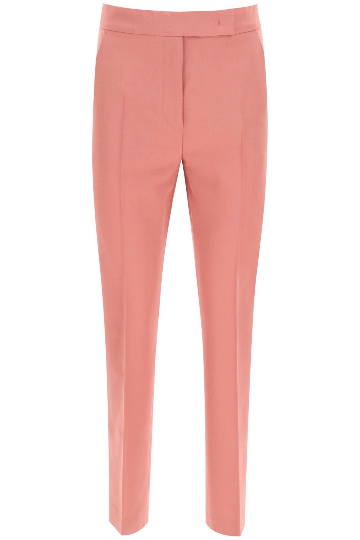 Max Mara Tempo Trousers In Mohair Wool 38 Pink Wool